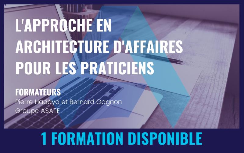 L'APPROCHE EN ARCHITECTURE D'AFFAIRES POUR LES PRATICIENS