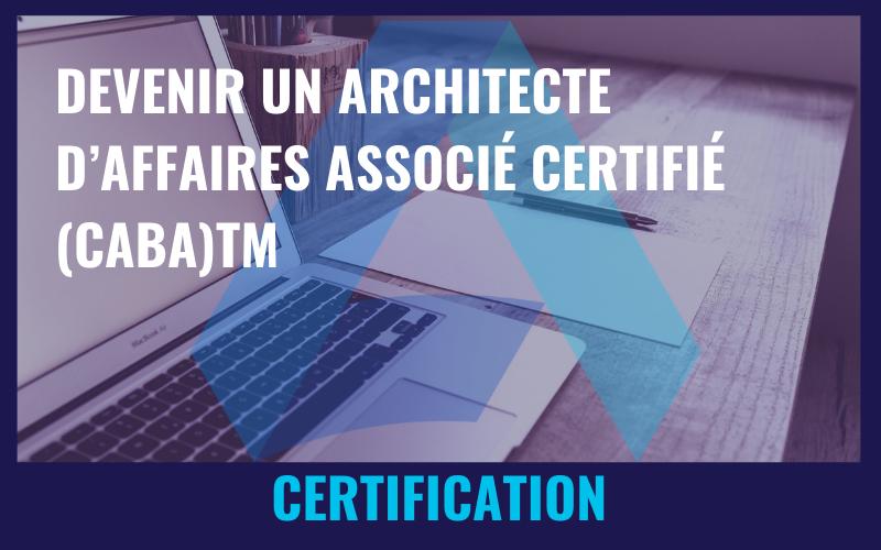 Devenir un architecte d'Affaires associé certifié