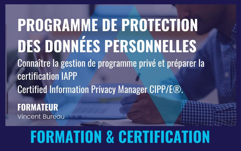 PROGRAMME DE PROTECTION DES DONNÉES PERSONNELLES