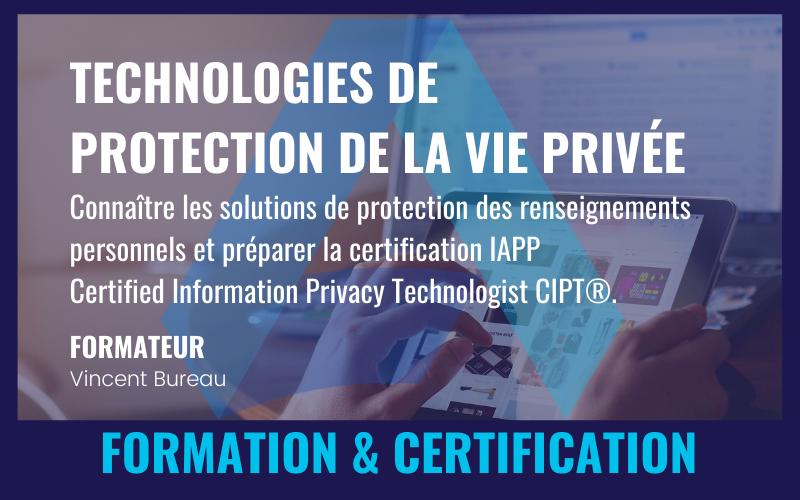 TECHNOLOGIES DE PROTECTION DE LA VIE PRIVÉE