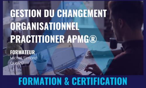 GESTION DU CHANGEMENT ORGANISATIONNEL PRACTITIONER APMG®